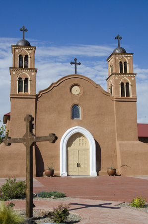 The old San Miguel Mission in Socorro, New Mexico was originally built in 1626 by Catholic priests who had come with Don Juan de Onates exploration committee, and local Indians, who had aided the expedition with food when they arrived.  In the Pueblo Rev