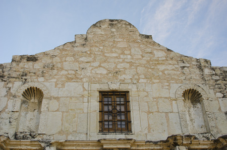 Looking up from the front doors of the Alamo (Mission San Antonio de Valero) & Alamo Battle Stock Photos. Royalty Free Alamo Battle Images And ... Pezcame.Com