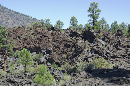 Sunset Crater Volcano National Monument has some great examples of jagged Aa lava fields created by the volcanos eruption 1,000 years ago.