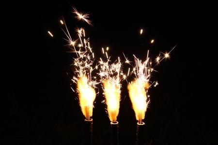 Cake Fireworks Candle Firing