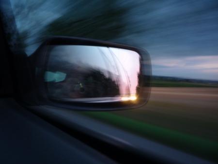 reflexion: Car Reflexion Espejo y Paisaje Pases at Sunset
