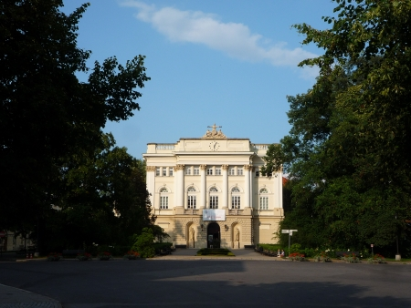 collegium: Poland, Warsaw, 14 July 2013 - The Old Library of the University of Warsaw, the largest university in Poland