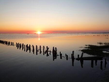 Danish Wadden Sea at sunset