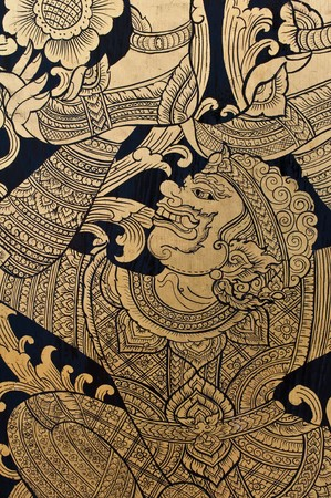thai painting: Traditional Thai style painting art