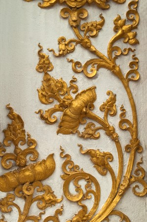 antique asian: native thai style on church in thai temple