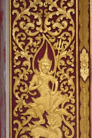 buddha image: native thai style on church in thai temple