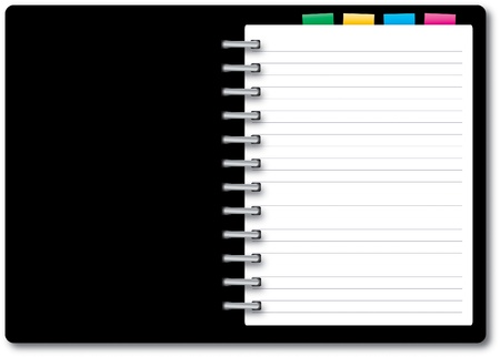 isolated notebook on white background photo