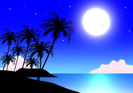 Night sky with moon and stars Stock Photo - 8703100