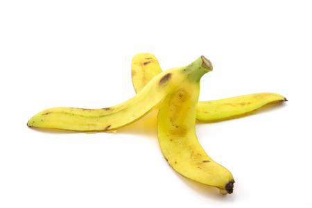 peel: Banana peel on white background