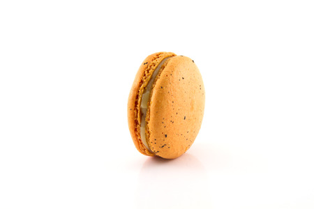 A french sweet delicacy, macaroons variety closeup.
