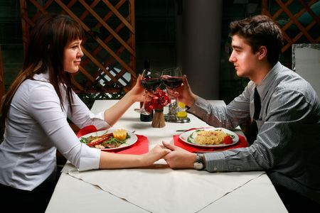 Young couple enjoyng their time together. Standard-Bild