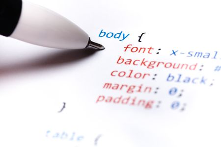 Printed on paper computer code technology background