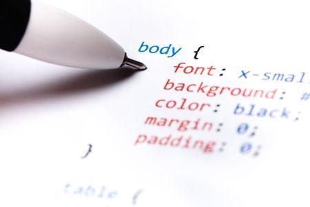code computer: Impreso en papel de fondo la tecnolog�a de c�digo de ordenador Foto de archivo