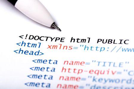 Gedruckt auf Papier Computercode Technologie Hintergrund Standard-Bild - 4424841