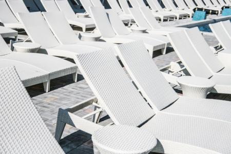 Chaise longue near the pool