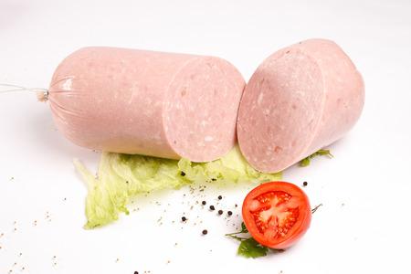 Ham with fresh vegetables