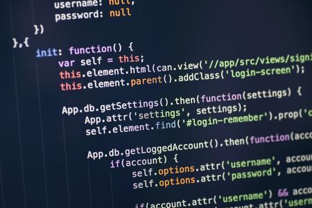 컴퓨터 화면에 코드 구문