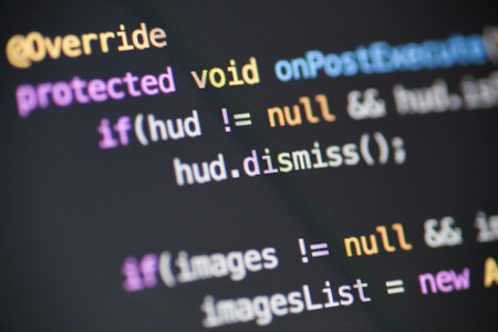 Java source code Stock Photo