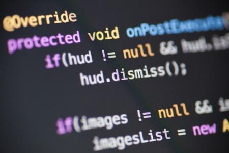 source: Java source code Stock Photo