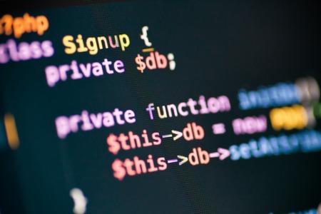 モニターに PHP コード行