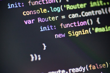 Javascript code lines Foto de archivo