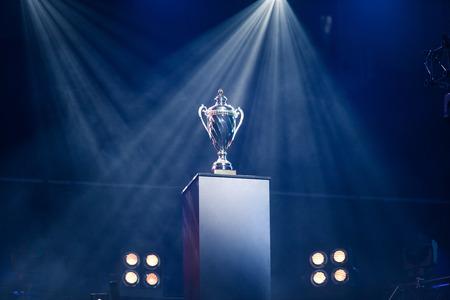 電子ゲーム大会はその勝者を探しています 写真素材