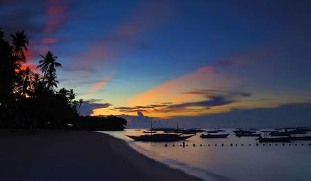 Bohol Panglao Alona Beach Sunrise dawn tranquil relaxing scene