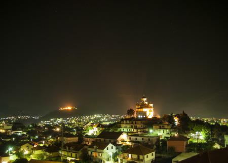 Night view   of city of Trebinje, Bosnia and Herzegovina