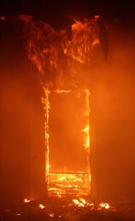 Feuer im Gebäude Standard-Bild
