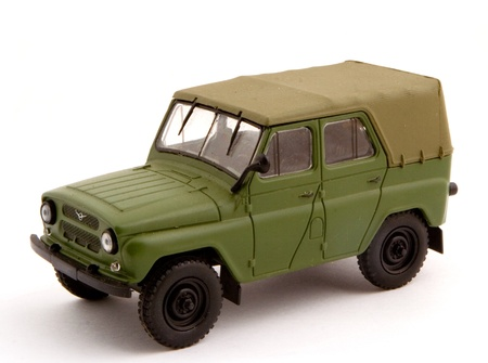 Collection scale model the Off-road car. The model is made of metal. For a basis of model the machine issued in the last century in Russia is taken.