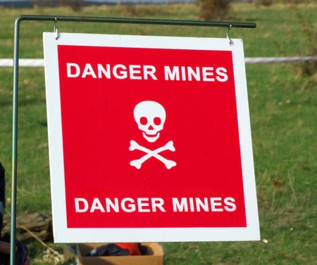 Danger mines, Clearing soil after fighting
