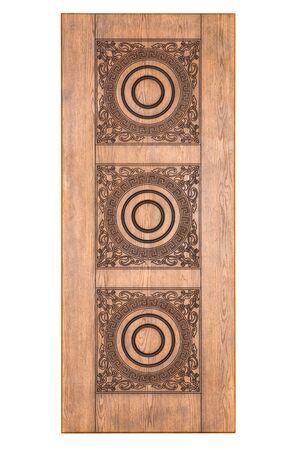 Wooden door isolaten on white Stock Photo - 13234552