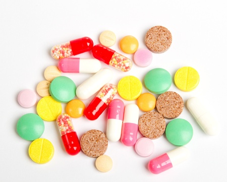 background made of colorful pills Standard-Bild