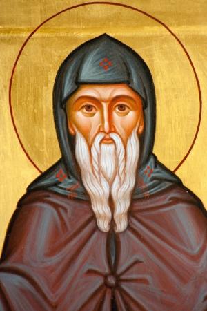 saintliness: Saint Nicolas Orthodox religious icons fragment