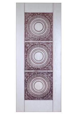 isolaten: Wooden door isolaten on white