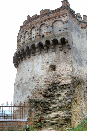 castle if: The old-time castle XVI ages. Ostrog. Ukraine Tower of the castle if Ostrog, Ukraine Editorial