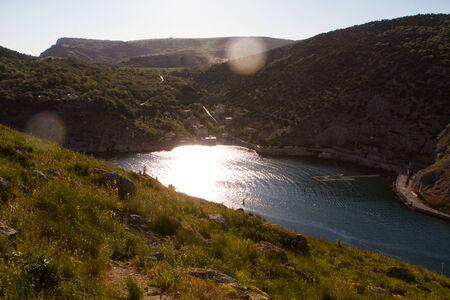Balaklava town and Balaklava Bay, Crimea, Russia photo