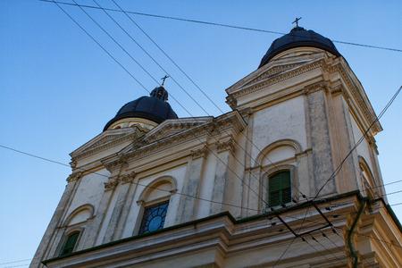 Church of Transfiguration (Preobrazhenska tserkva) located in Old Town of Lviv, Ukraine. It was originally built in 1731 and was restored in 1898. Lviv - Capital of historical region of Galicia. photo