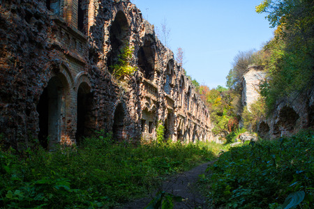 Ruins of ancient fort Tarakanov, Dubno district, Rivne region, Ukraine. photo