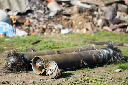 unexploded ordnance from multiple rocket launchers degrees in Donetsk