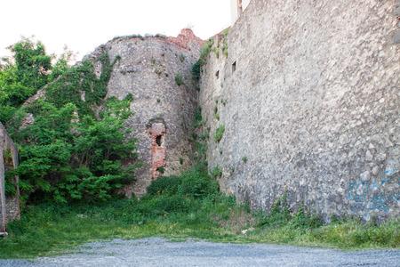 14th century: View of old Palanok Castle or Mukachevo Castle, Ukraine, built in 14th century Stock Photo