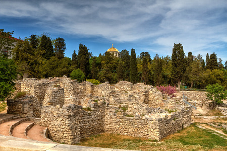 bce: The remains of the ancient city of Chersonesus, 528 years. BCE. Oe. Founded by the ancient Greeks to Heracleian peninsula on the southwest Stock Photo
