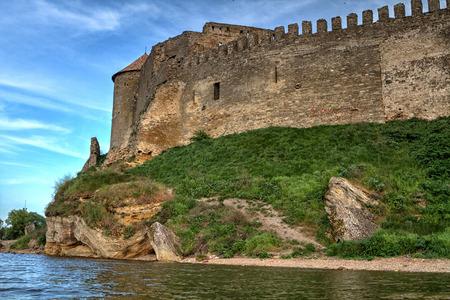 embrasure: Citadel on the Dniester estuary. Old fortress in town Bilhorod-Dnistrovski, Odessa region. The South of Ukraine