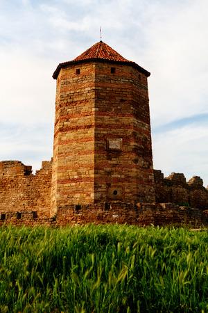 Citadel on the Dniester estuary. Old fortress in town Bilhorod-Dnistrovski, Odessa region. The South of Ukraine