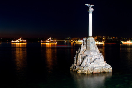 Monument to sunken ships, the symbol of Sevastopol build in 1905, Crimea, Russian