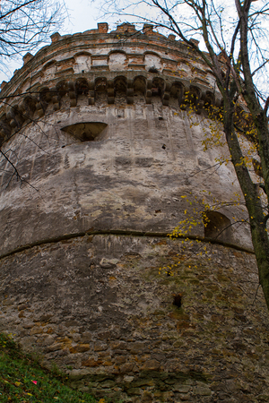 castle if: The old-time castle XVI ages. Ostrog. Ukraine Tower of the castle if Ostrog, Ukraine Stock Photo