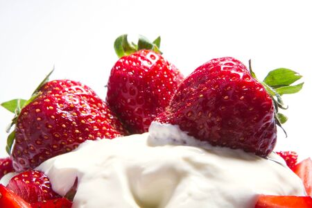 Strawberry - full frame Fresh ripe perfect strawberry - Food Frame Background