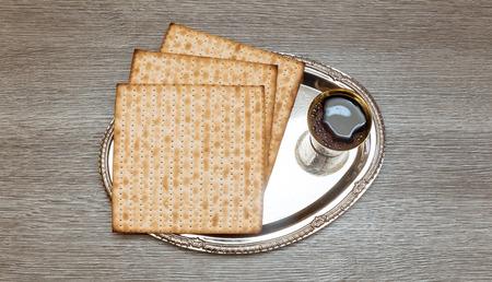 pesakh: wine and matzoh jewish passover bread Passover matzo Passover wine