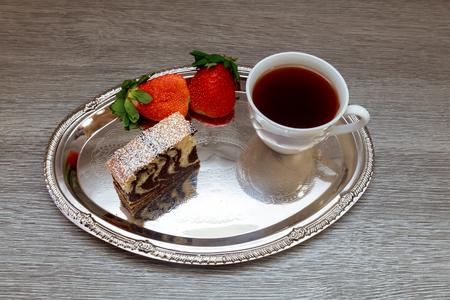 shortcake: Strawberry  cake and Green tea Latte shortcake organic