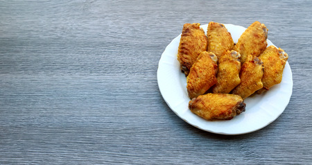 natur: Grilled chicken wings buffalo nibblies studio natur Stock Photo